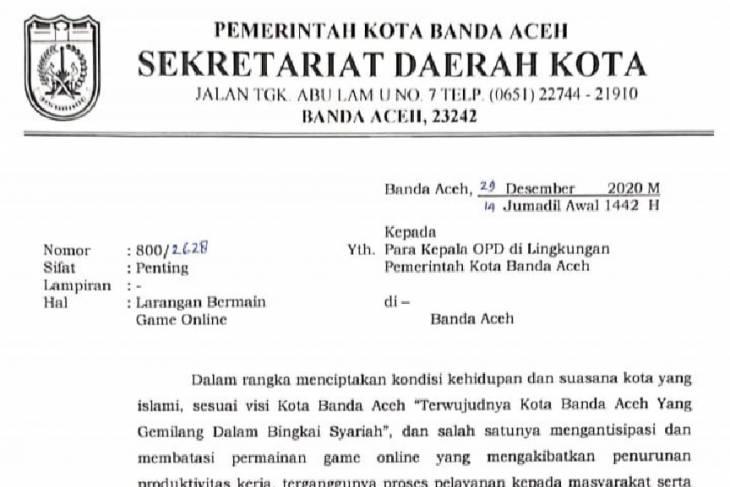 Terwujudnya Kota Banda Aceh Gemilang Dalam Bingkai Syariah Pns Dan Phl Tak Main Game